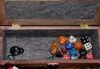 Dice Coffin with Open Lid