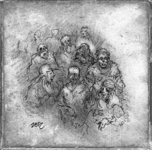Print of a Crowd by author and artist Bob Fingerman