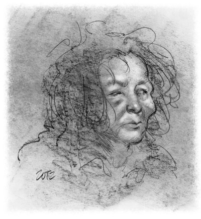 Female Zombie Portrait by Artist and Author Bob Fingerman