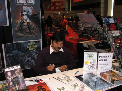 Artist Dheeraj Verma at Avatar Press | C2E2 2011