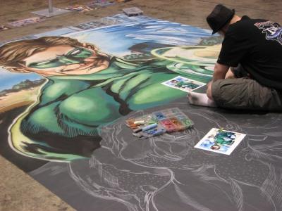 Green Lantern in Chalk