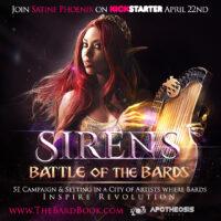 SIRENS: Battle of the Bards Now on Kickstarter